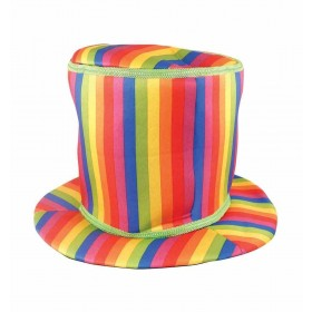 Rainbow Top Hat (Soft) Fancy Dress Accessory