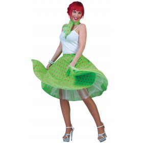 Ladies Light Green 50'S Grease Style Rock 'N' Roll Dress Fancy Dress Costume.