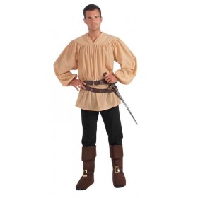 Mens Medieval Shirt Outfit - (Brown)