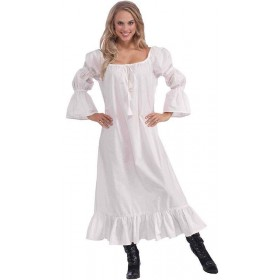 Ladies Medieval Chemise Medieval Outfit - One Size (White)