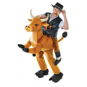 Mens Step In Bull Animal Outfit - One Size (Brown)