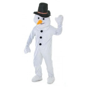 Adult Unisex Snowman Big Head Outfit - One Size (White)