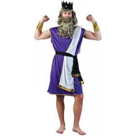 Mens King Neptune Greek Outfit - One Size (Blue, Red)