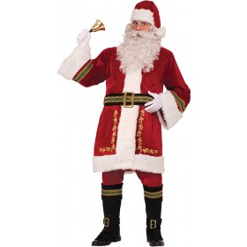 Deluxe Traditional Santa Claus Christmas Costume