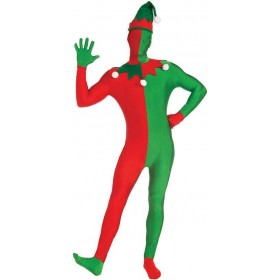 Adults Elf / Santas Helper Disappearing Man Christmas Fancy Dress Costume