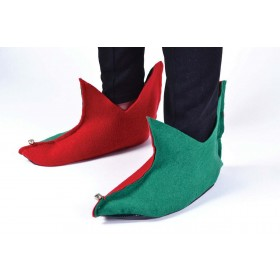 Elf Shoes. Flet. Green/Red Accessories