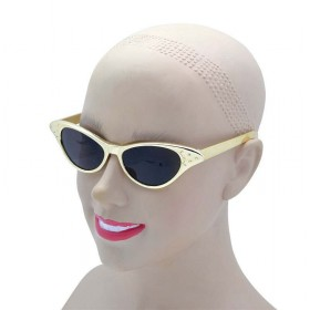 Sunglasses. 50'S Gold Metallic Glasses