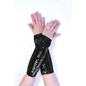 Sequin Arm Sleeves Black Accessories