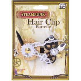 Ladies Steampunk Hair Clip Fancy Dress Accessory
