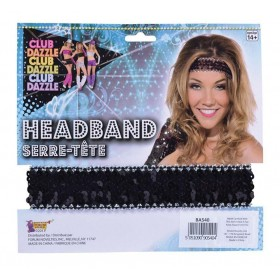Sequin Headband Black Accessories