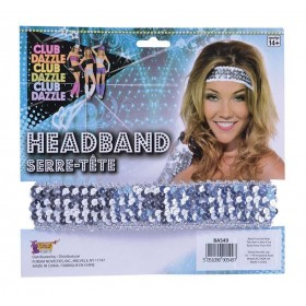 Sequin Headband Silver Accessories
