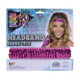 Sequin Headband Pink Accessories