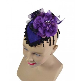 Fancy Mini Hat With Comb. Purple Hats