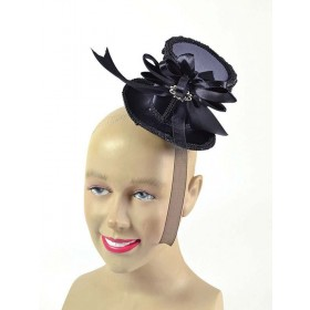Ladies Tall Hat. Black Mini Hats
