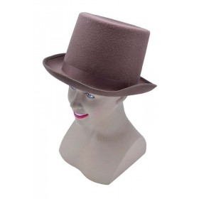 Top Hat. Wool Felt Brown Hats
