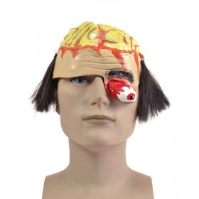 Brain Headpiece With Gory Eye Masks