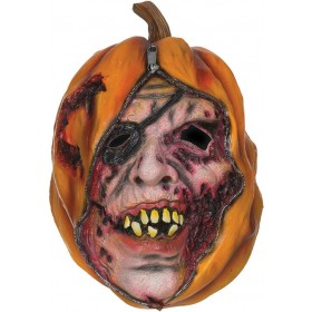 Adults Pumpkin Mask Unzipped Halloween Fancy Dress Accessory