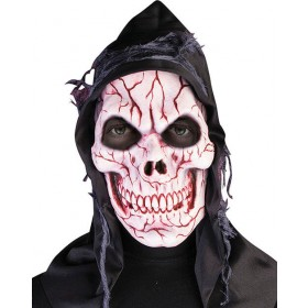 Adults Hooded Ghost Skull Mask Halloween Fancy Dress Accessory