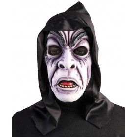 Adults Hooded Zombie Ghoul Mask Halloween Fancy Dress Accessory