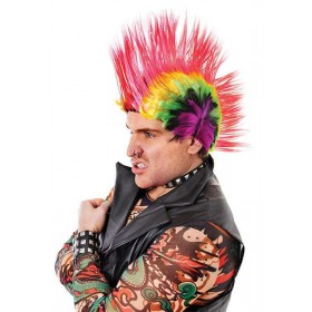 Mohican. Multi-Coloured Wigs