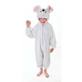 Toddler White Mouse Animal Outfit - (White)