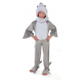 Toddler Shark Plush With Head (128Cm) Animal Outfit - Age 5-7 (Grey)