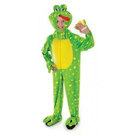 Toddler Frog Plush With Head (128Cm) Animal Outfit - Age 5-7 (Green)