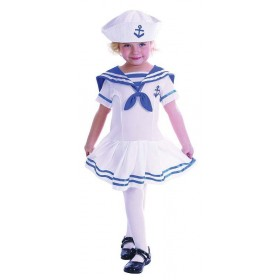Toddler Sailor Girl Sailor Outfit - (White, Blue)