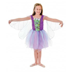 Girls Winged Fairy Fancy Dress Costume