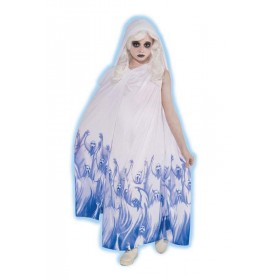 Girls Soul Taker Girls Costume Halloween Outfit - (White, Blue)