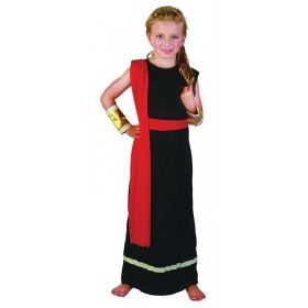 Girls Roman Girl. Black Roman Outfit - (Black)