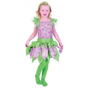 Girls Forest Fairy Fairy Tales Outfit - (Pink/Green)