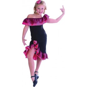Girls Flamenco Girl Animal Outfit - (Pink, Black)