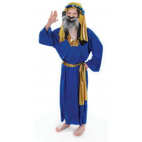 Boys Wise Man. Blue Fancy Dress Costume