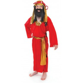 Boys Wise Man Red Fancy Dress Costume