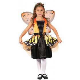 Girls Monarch Butterfly Fairy Fancy Dress Costume