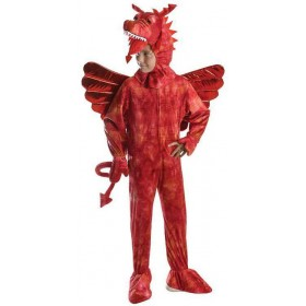Childs Red Fantasy Dragon Fancy Dress Costume
