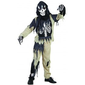 Skeleton Zombie Fancy Dress Costume