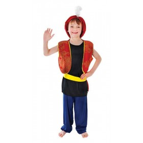 Boys Arabian Boy Cartoon Outfit - (Multicolour)