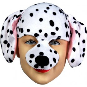Dalmation Half Face & Headband (Animals Fancy Dress Masks)
