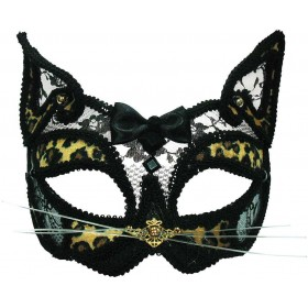 Leopard Transparent Mask On Headband Masks