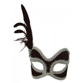Black/Silver Velvet Mask Masks