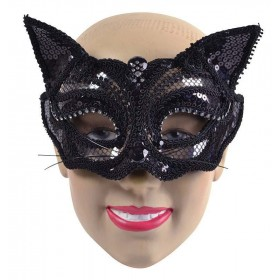 Black Cat Sequin. Glass Frame Accessories