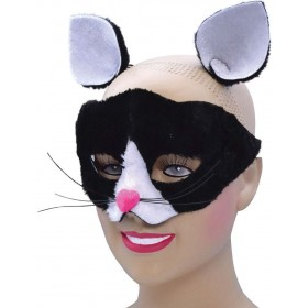 One Size Cat Eye Mask + Ears  Fancy Dress Accessory