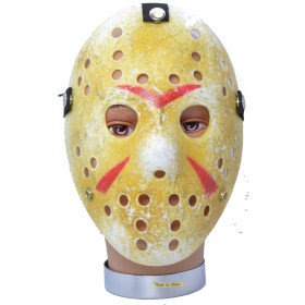 One Size Hockey Mask Painted Fancy Dress Accessory