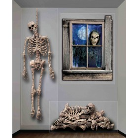 Haunted House Ghastly Giant Halloween Wall Decoration .