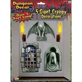 5pk Creepy Gothic Giant Wall Halloween Decorations.