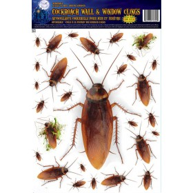 Cockroach Wall & Window Stickers Halloween Decoration.