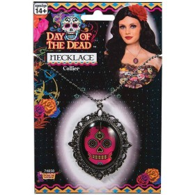 Ladies Day of the Dead Skull Necklace Halloween Fancy Dress Accessory