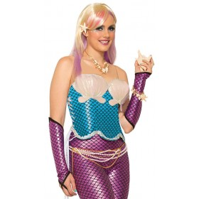 Ladies Blue Mermaid Corset Fancy Dress Item.